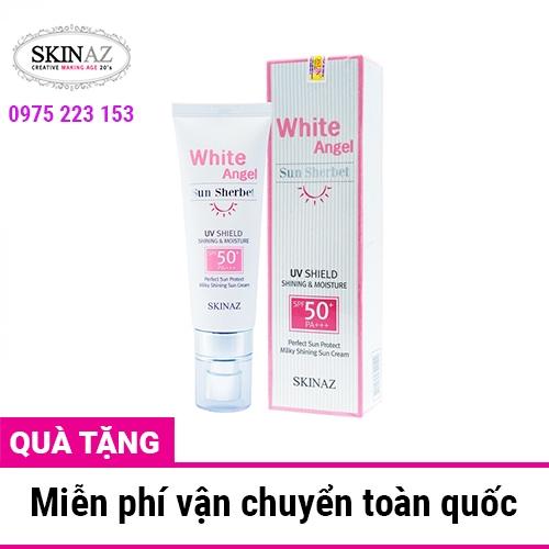 Kem chống nắng cao cấp White Angel Sun Sherbet Skinaz SPF50 + 70ml