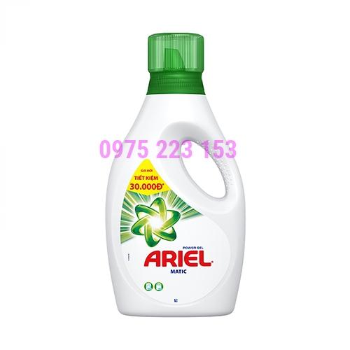 Nước giặt Ariel Power Gel Matic 2.4kg- Dạng Chai