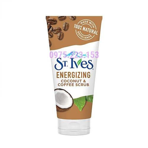 Tẩy tế bào chết dành cho da khô St Ives Coconut & Coffee Scrub 170g
