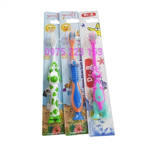 Bàn chải đánh răng Aqua Star Nano silver tooth brush for kid 3-10 tuổi