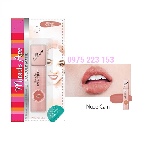 Son kem lì Miracle Apo Lip Lacquer Matte Blind For Love màu Cam Nude 3ml