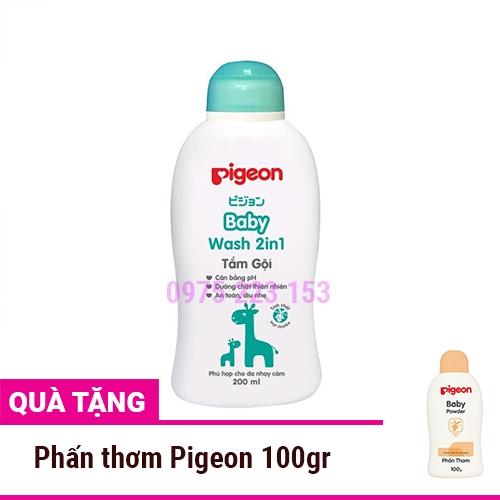 Tắm gội 2in1 tinh dầu Jojoba Pigeon Baby Wash 200ml