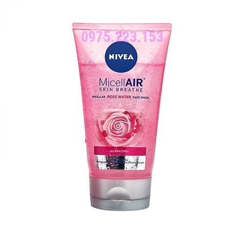 Sữa rửa mặt hoa hồng Nivea Micellair Skin Breathe 150ml