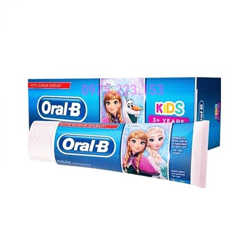 Kem đánh răng cho bé từ 3 tuổi trở lên Oral-B Kids 75ml - Phiên bản Frozen