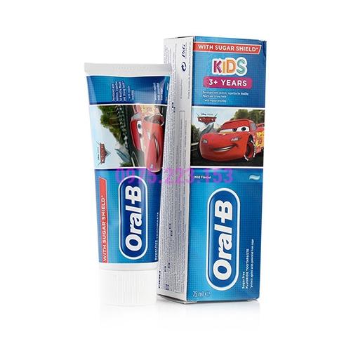 Kem đánh răng cho bé từ 3 tuổi trở lên Oral-B Kids 75ml - Phiên bản Cars