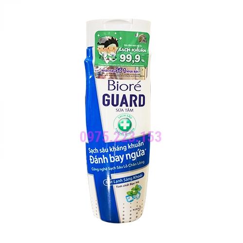 Sữa tắm sạch sâu kháng khuẩn Biore mát lạnh sảng khoái 220g