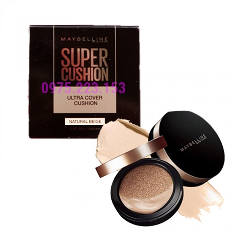 Phấn nước siêu mịn Maybelline Super Cushion Ultra Cover Natural Beige 14g