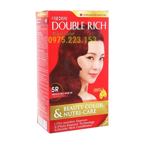 Thuốc nhuộm tóc Double Rich Trend Color 5R - Đỏ Rượu Vang