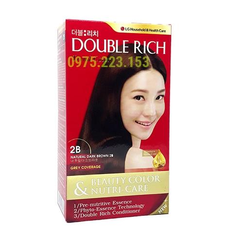 Thuốc nhuộm tóc Double Rich Trend Color 2B - Nâu Tự Nhiên