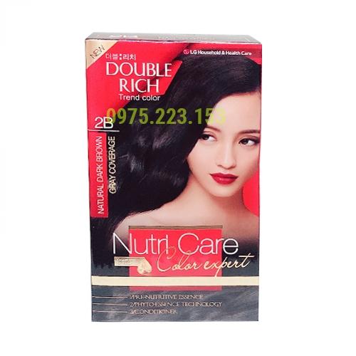 Thuốc nhuộm tóc Double Rich Trend Color Nutri Care 2B - Nâu Tự Nhiên
