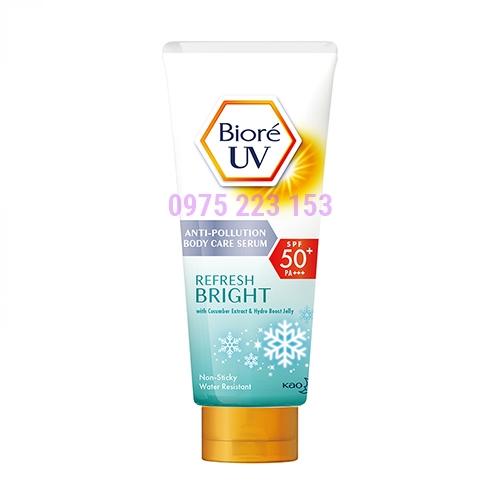 Serum chống nắng dưỡng thể sáng mịn mát lạnh Biore UV SPF50 150ml