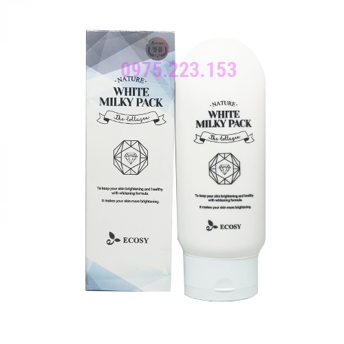 Sữa dưỡng thể trắng da Ecosy Nature White Milky Pack The Collagen 150g