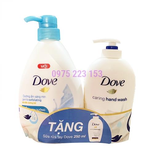 Sữa tắm Dove với hạt mát-xa tẩy tế bào chết 530ml