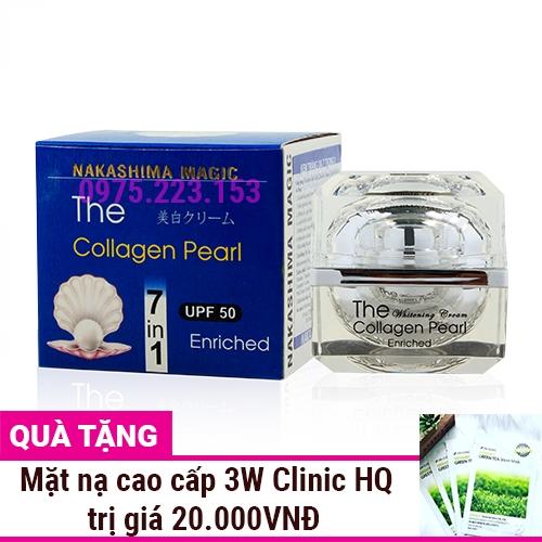 Kem dưỡng trắng da bột ngọc trai Nakashima Magic Collagen Pearl 7in1 30g