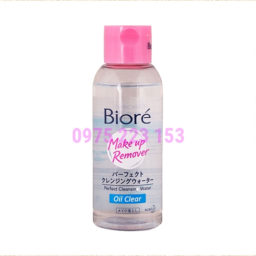 Nước tẩy trang dành cho da dầu Biore Oil Clear 90ml