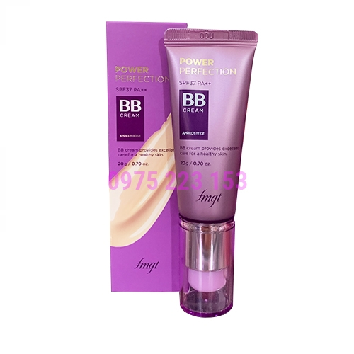 Kem nền The Face Shop Power Perfection BB SPF 37 V201 Apricot Beige 20g