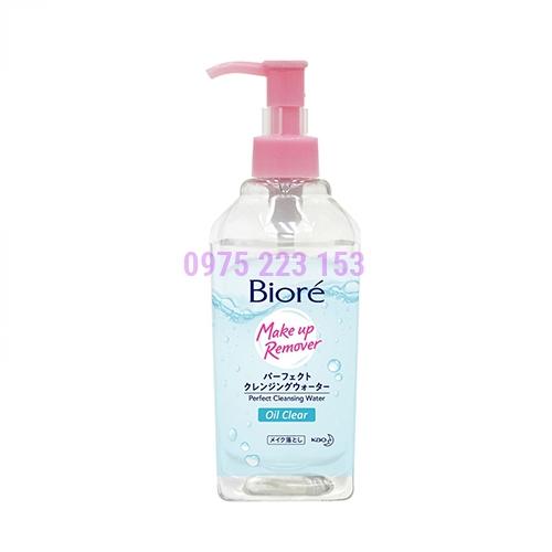 Nước tẩy trang hoàn hảo sạch nhờn Biore Make Up Remover Oil Clear 300ml