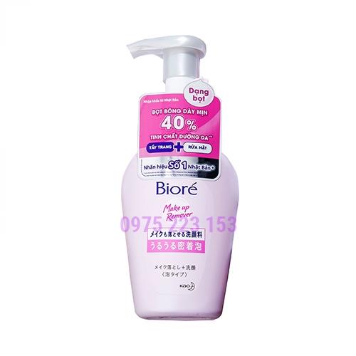 Bọt tẩy trang dưỡng ẩm Biore Make Up Remover 160ml