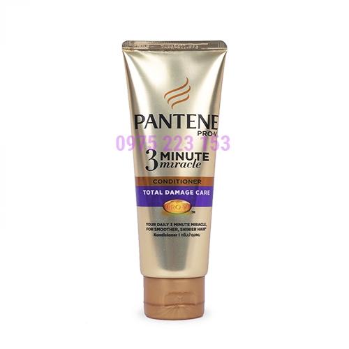 Kem xả 3 phút diệu kỳ Pantene Pro - V chăm sóc tóc hư tổn 180ml