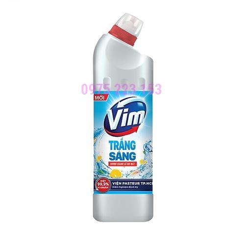 Gel tẩy rửa bồn cầu nhà tắm Vim trắng sáng hương chanh sả 475ml