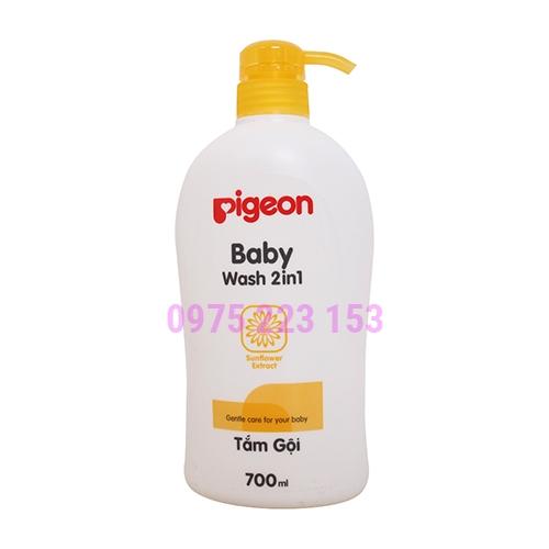 Sữa tắm gội tinh chất hướng dương Pigeon Baby Wash 2in1 700ml