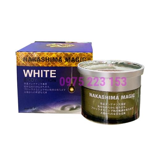 Kem dưỡng trắng da toàn thân cấp tốc Nakashima White Body Lotion 200g