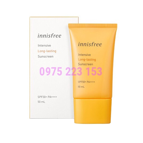 Kem chống nắng Innisfree intensive Long Lasting Sunscreen SPF50 50ml