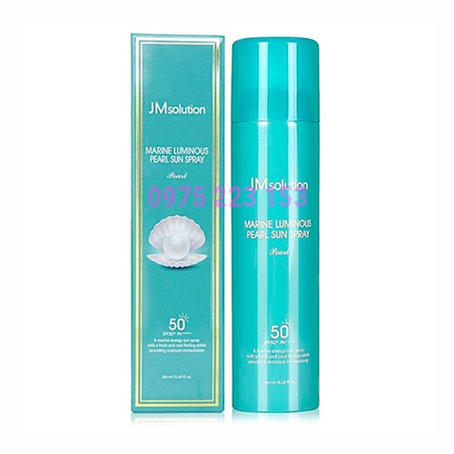Xịt chống nắng ngọc trai JMsolution Marine Luminous Pearl SPF50 180ml