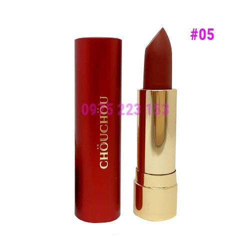 Son lì Chou Chou Red Limited Edition 05 Ripe Fig - Đỏ Nâu Đất