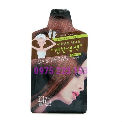 Thuốc nhuộm tóc thảo dược Pyeonan 30g - Nâu Đen