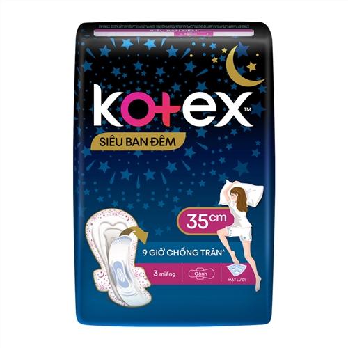 Băng vệ sinh Kotex Style ban đêm 3 miếng x 35cm