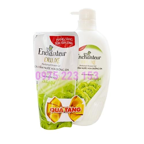Sữa tắm hương nước hoa Enchanteur Delightful 650g - Tặng túi sữa tắm 200g
