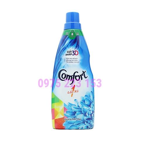 Nước xả vải Comfort đậm đặc một lần xả Hương Ban Mai ( chai) 800ml
