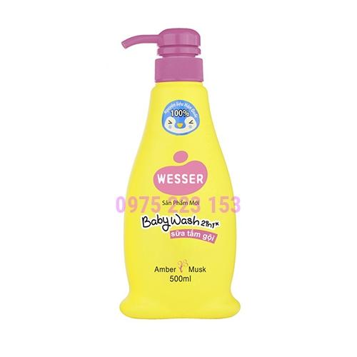 Sữa tắm gội Wesser 2in1 hương Amber Musk 500ml