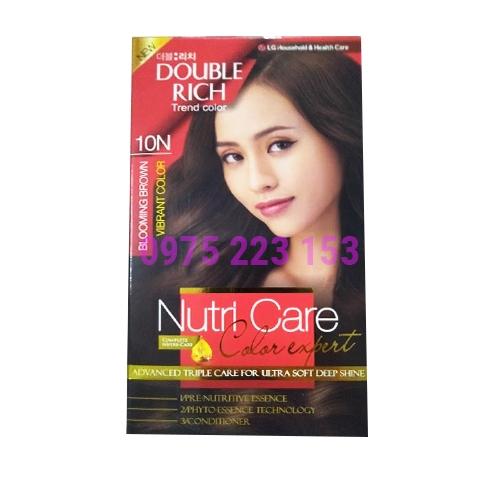 Thuốc nhuộm tóc Double Rich Trend Color 10N - Nâu Hạt Dẻ