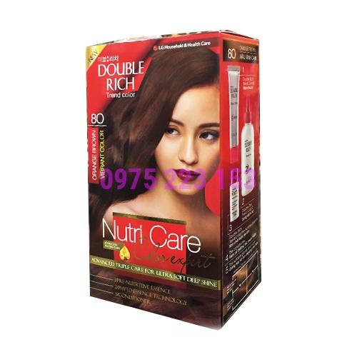 Thuốc nhuộm tóc Double Rich Trend Color 80 - Nâu Ánh Cam