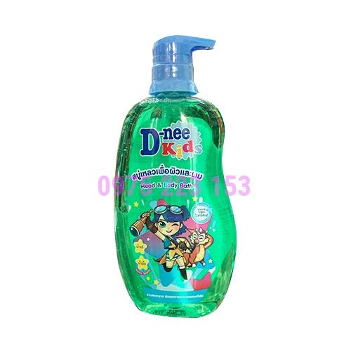 Tắm gội toàn thân trẻ em D-nee Green Smarty 400ml