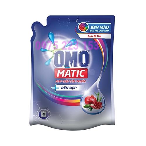 Túi nước giặt Omo Matic bền đẹp Lựu Và Tre cho máy giặt cửa trước 2.3kg