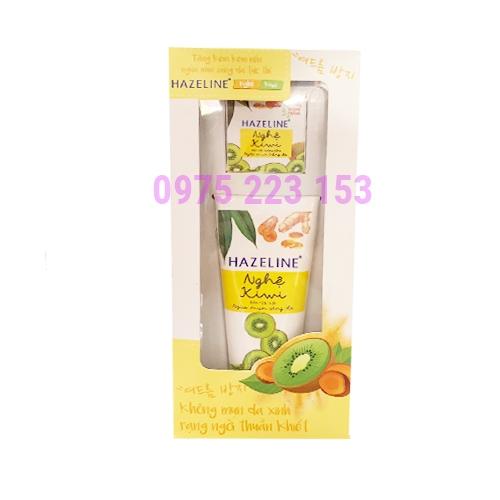 Sữa rửa mặt ngừa mụn sáng da Hazeline Nghệ Kiwi 50 g