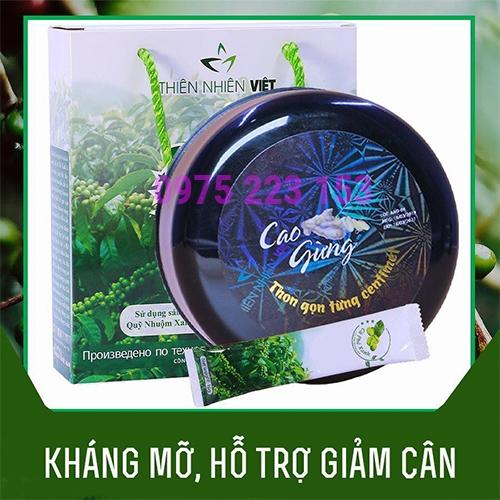 Combo Cà phê xanh kháng mỡ và Cao gừng tan mỡ Thiên Nhiên Việt