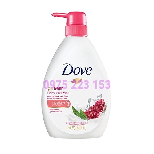 Sữa tắm dưỡng da hương Lựu Dove Go Fresh Revive Body Wash 550ml