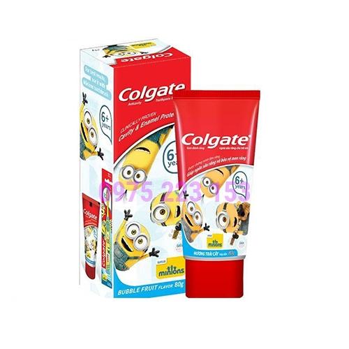Kem đánh răng dành cho bé trên 6 tuổi Colgate Minions 80g