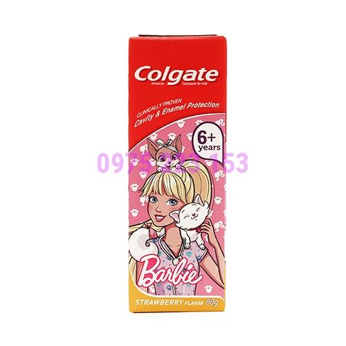 Kem đánh răng cho bé từ 6 tuổi trở lên Colgate Barbie Strawwberry 80g