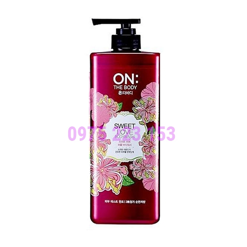 Sữa tắm nước hoa On The Body Perfume Shower Body Wash Sweet Love 900g