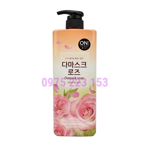Sữa tắm hương nước hoa On The Body Damask Rose 900ml