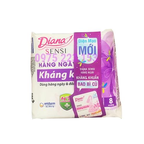 Băng vệ sinh hàng ngày Diana Sensi Slimfit 8 miếng
