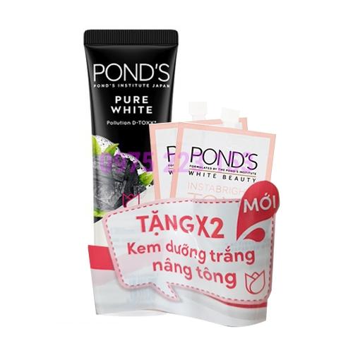 Sữa rửa mặt sạch  sâu Ponds Pure White Pollution Detox 50g
