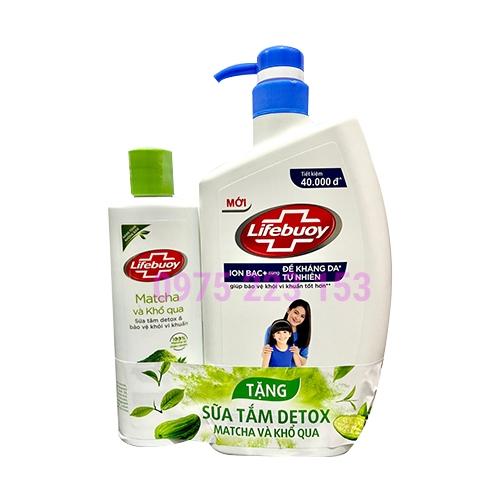 Sữa tắm Lifebuoy Chăm sóc da 850g - Tặng sữa tắm Lifebuoy Detox 200gr