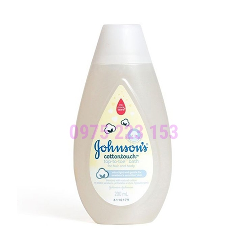 Tắm gội toàn thân Johnsons Baby CottonTouch Top To Toe 200ml