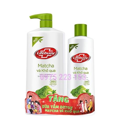 Sữa tắm Lifebuoy Matcha và Khổ qua 850g - Tặng Sữa tắm Lifebuoy matcha
